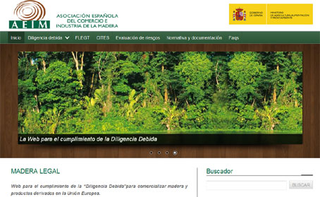 Activada la web www.maderalegal.info para el cumplimiento de la Diligencia Debida