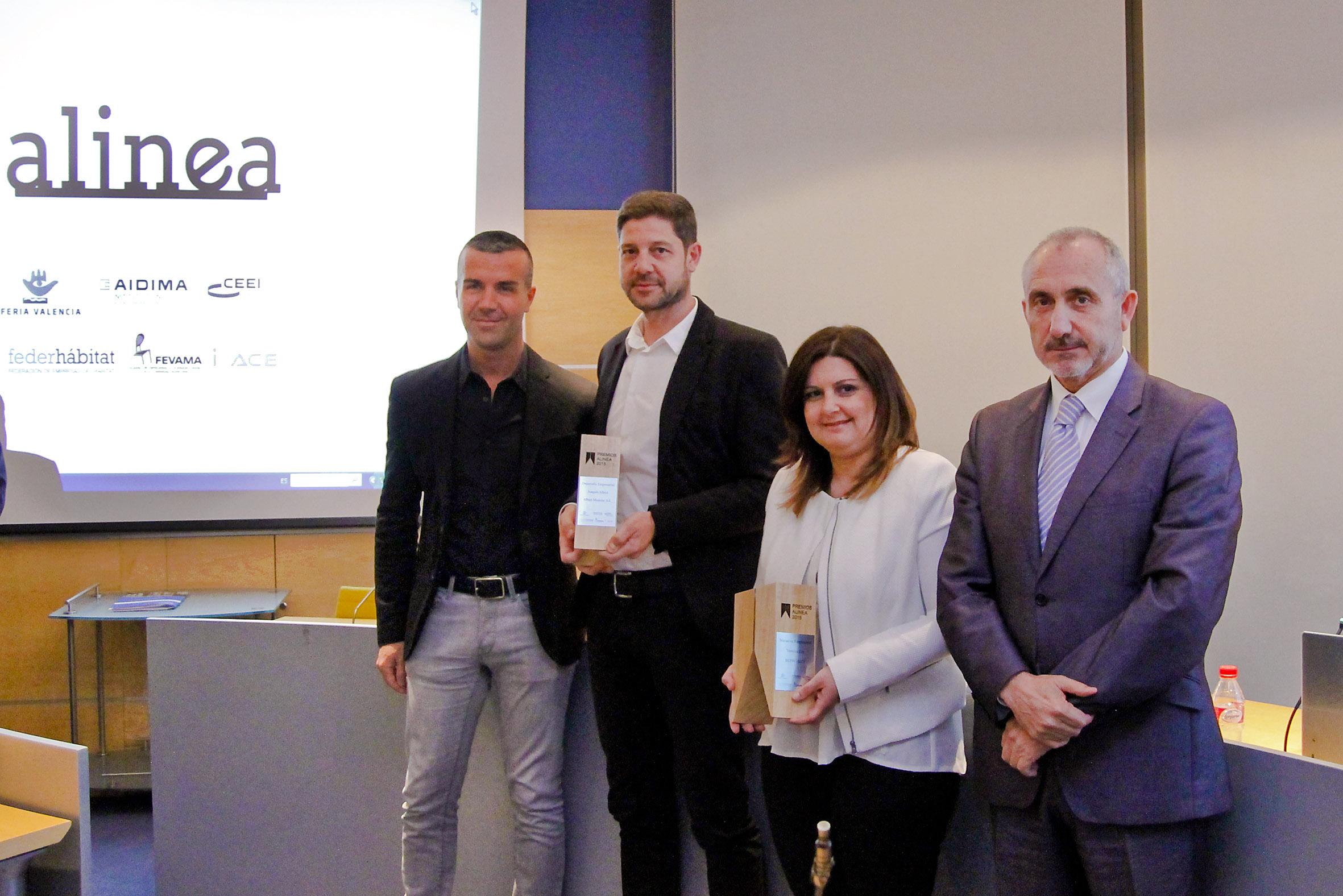 Un servicio 'online' de interiorismo y una firma de mobiliario modular ganan los I Premios Alinea de emprendimiento en el sector del hábitat